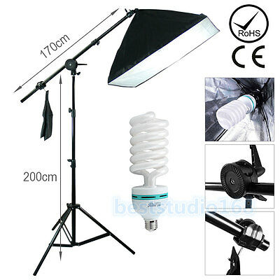 Photog Studio 135W Softbox Continuous Lighting Soft Box Boom Arm Light Stand Kit