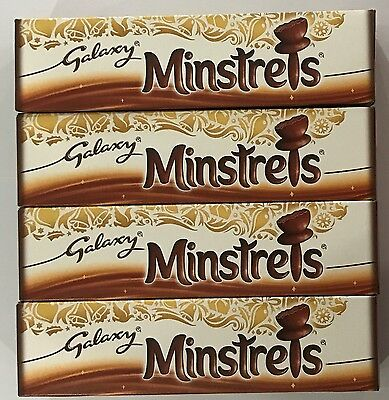 4 x 84g BOXES OF GALAXY MINSTRELS - SUPERIOR CHOCOLATE - YUMMY! - UK