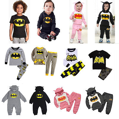 Toddler Kid Boy Children Superhero Hoodie Sweatshirt/Rompers/T-shirt/Pyjamas Set