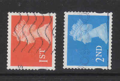 SeT of  2 QEII eliptical decimal stamps used in a good condition