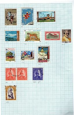 Stamps of Nepal  Hinged  Lot 33