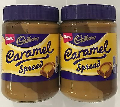 2 x 400g JARS OF CADBURY CARAMEL SPREAD - NEW! - GREAT GIFT - BELGIUM