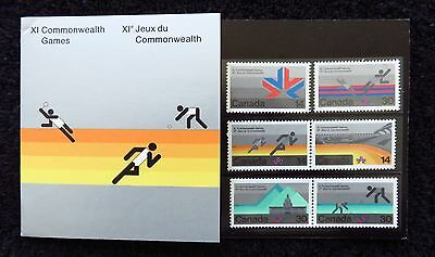 1978 Canada XI Commonwealth Games Presentation Stamp Pack Mint MUH