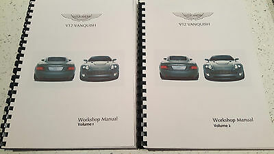 Aston Martin V12 Vanquish 01-07 Workshop Manual Reprinted Comb Bound 481 Pages