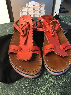 Camper red leather sandals size39/aus 8