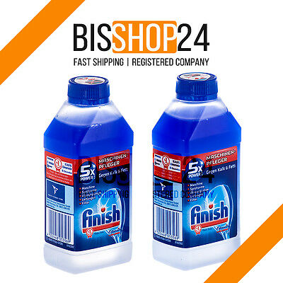 FINISH CALGONIT DUAL ACTION 2 x 250ml Dishwasher Cleaner Made in Germany NEW