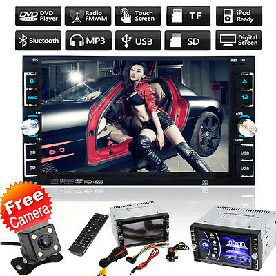 "Camera+2Din 6.2"" Car Stereo DVD CD MP3 Player HD In Dash Bluetooth Ipod TV Radio"