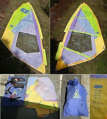 WIND SURFING SAIL + Accessories & Bag. Good Condition.