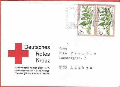 Germany 1979 Red Cross Pair Stamps Cover # 703