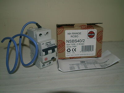 WYLEX NSBS40/2 40A 30mA RCBO NEW