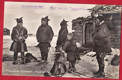 OLD POTSCARD  Representing the driving factors of the city of KAUTOKEINO