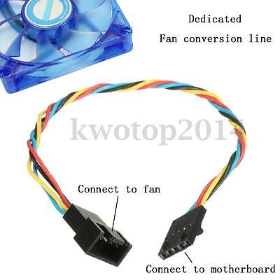 5 Pin Latch Dedicated Fan to 4 Pin Cable Adapter Interface Connector For Dell