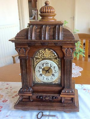 Antique 'junghans'  Walnut Striking Bracket Clock - Working With Key