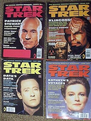 Star Trek monthly magazines numbers 1 to 10