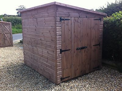 motor bike shed double doors 8ft x 5ft  any size available