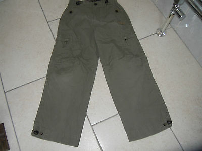 NEXT Khaki Boys Cotton Cargo Trousers Size 8 yrs