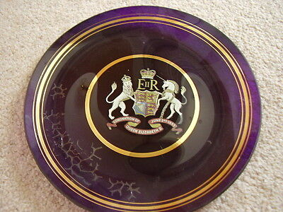 Glass Commemorative plate,Coronation of Queen Elizabeth II,!953