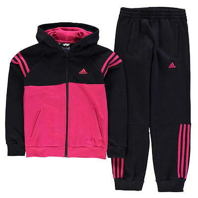 Girls Official Adidas Tracksuit Set Ages 7-13 Years