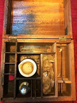 Antique Chemistry Set in Wooden Box