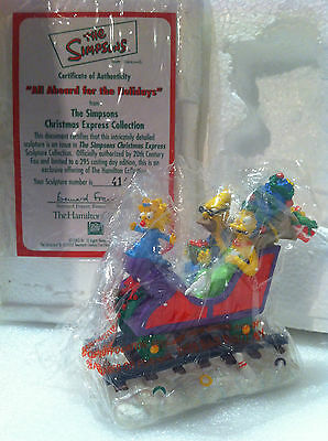 Simpsons Hamilton Sculpture All Aboard For The Holidays Christmas Train Figure