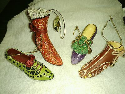 4 Stepping In Time Heirloom Ornaments Ashton-Drake Collection FREE SHIPPING