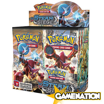 Pokemon Trading Card Game: Steam Siege Booster Box (includes 36 Booster Packs)