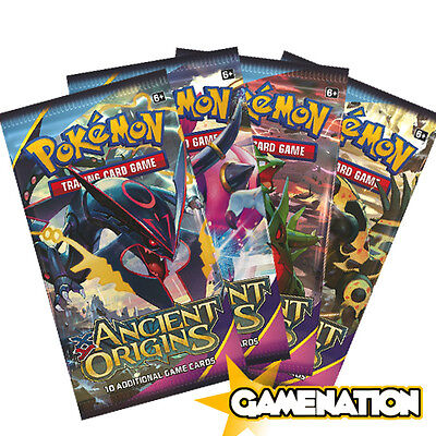Pokemon Trading Card Game: 4 Ancient Origins Booster Packs (new & sealed)