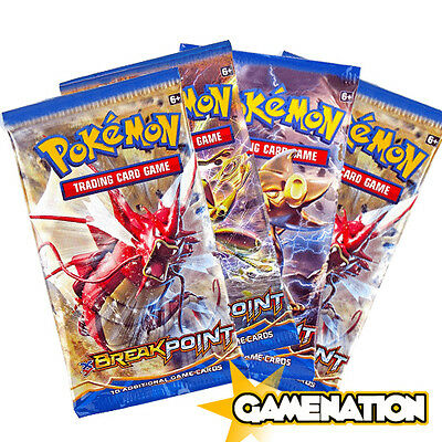 Pokemon Trading Card Game: 4 BREAKpoint Booster Packs (new & sealed)