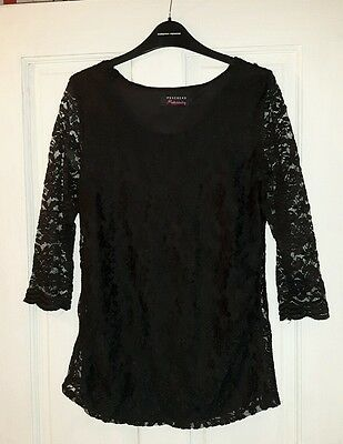 maternity black lace top size 10 xmas party