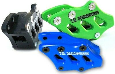 T.M. Designworks Blue Factory Edition 2 Chain Guide for Kawasaki KX250F 2009