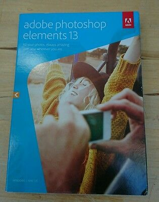 ADOBE PHOTOSHOP ELEMENTS 13 Physical copy unopened New for PC or MAC