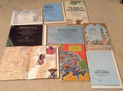 Lot of 30 Vintage National Geographic Magazine Maps International And US states