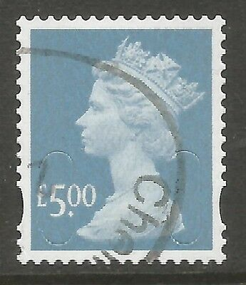2009 SG U2916 £5.00 AZURE SECURITY HIGH VALUE - VERY FINE USED as SCAN