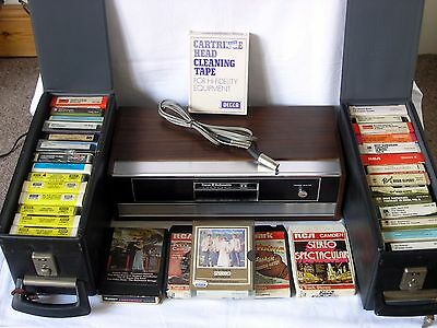 Vintage Radiomobile Stereo 8 Track Player & 30+ Tapes - Untested