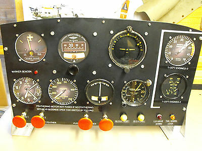 Boeing B-17 Flying Fortresses Instrument panel.