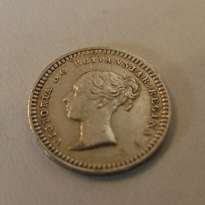 Victoria  1843  Sterling Silver  Three-Halfpence  In Superb Condition