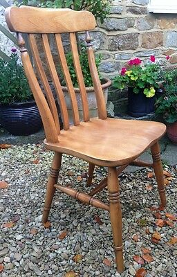 ~Antique C. 20th  Farmhouse Slatback Chair~