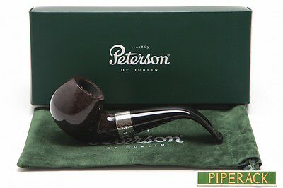 Peterson Fermoy 9mm Filter Apple Bent Briar Pipe (03) NEW FREE PIPE TOOL
