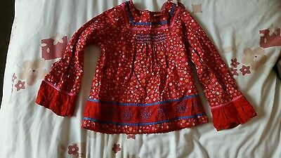Girls red print top from mini mode at boots age 2-3 years