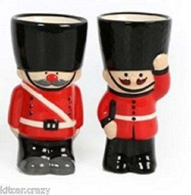 Novelty Ceramic London Guard Egg Cup Set Of Two