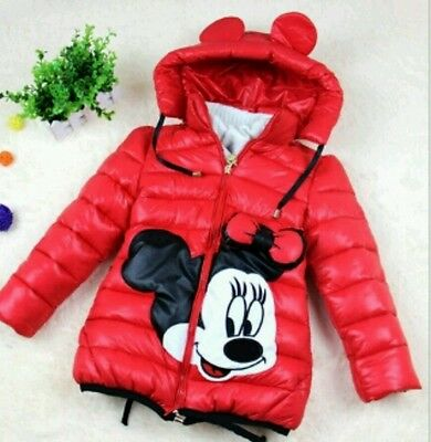 Girls minnie Mouse Coat age 2yrs in Red or Pink
