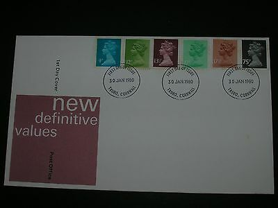 GB Stamps First Day Cover New Definitive Values
