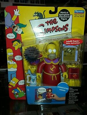 THE SIMPSONS World Of Springfield Interactive Figure Stonecutter Homer Series 10