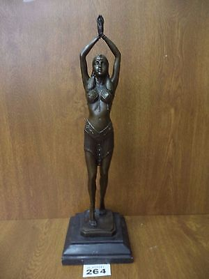 Bronze Figure After Chiparus - Art Deco Dancing Girl in Egyptian Revival Costume
