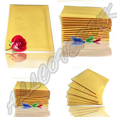 Mail Bags Padded Bubble Wrap Lined Envelope Postal Bags ALL SIZES WHITE & GOLD