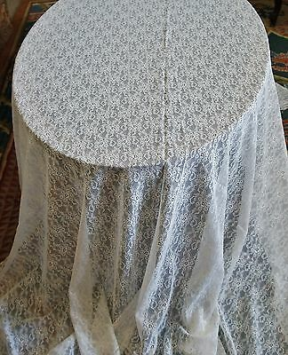 Lovely Antique White Lace Tablecloth 85x65