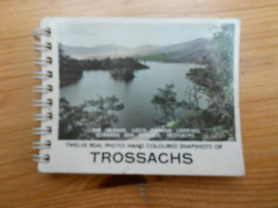 Vintage Souvenir Snap Shot Booklet of the Trossachs