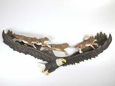Bradford Exchange Eagle & Wolves 'Night Flight' Decorative Wall Ornament  2007