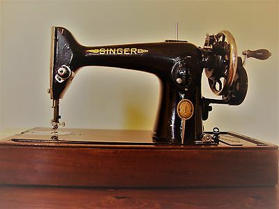 Singer sewing machine vintage 201K 1952r. with case NO MOTOR/HAND CRANK
