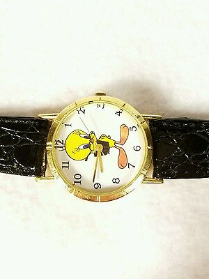 Tweety Bird Wrist Watch Looney Tunes Leather Band